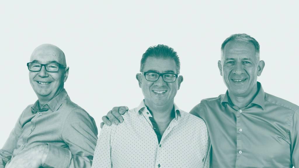 Three men, the founders of Orangebox