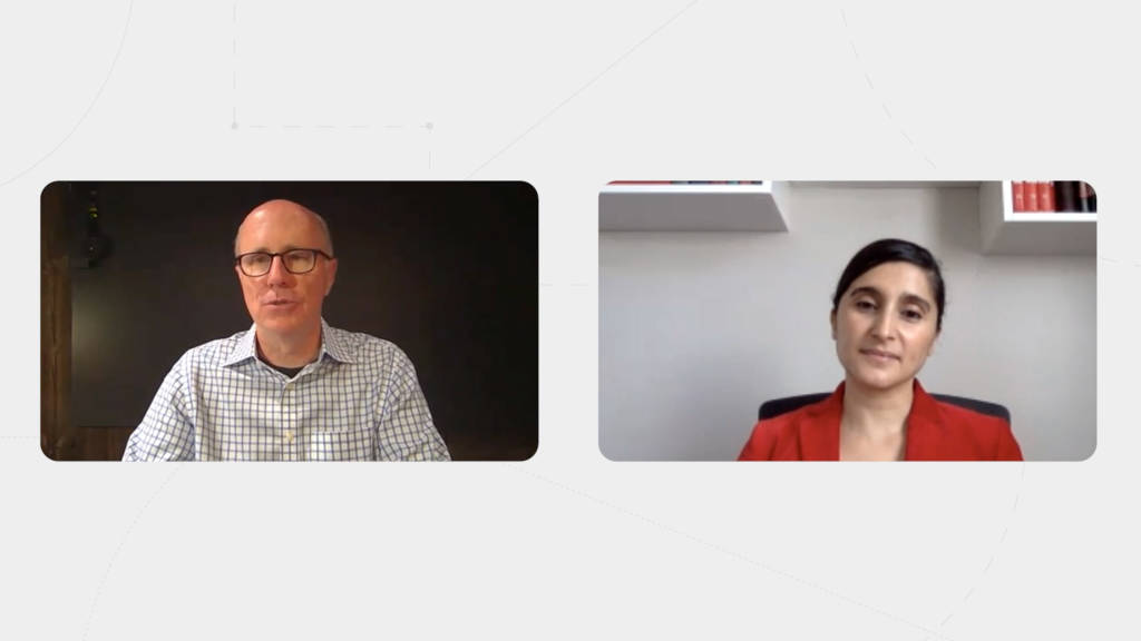 cover image of Jim Keane and Dr. Lydia talking on a videocall