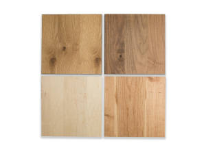 Image of 4 different colors of planked veneer