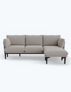 A 3 seat couch with chaise lounge on right by Floyd