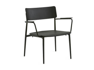 all black Simple Lounge Chair by Turnstone on white background