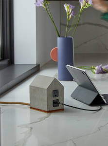 small house-shaped power source product from Hand&Crafted