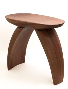 Wood stool by Brian Ferrell Designs on white