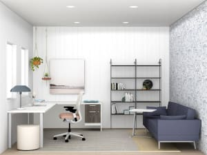 small home office with couch