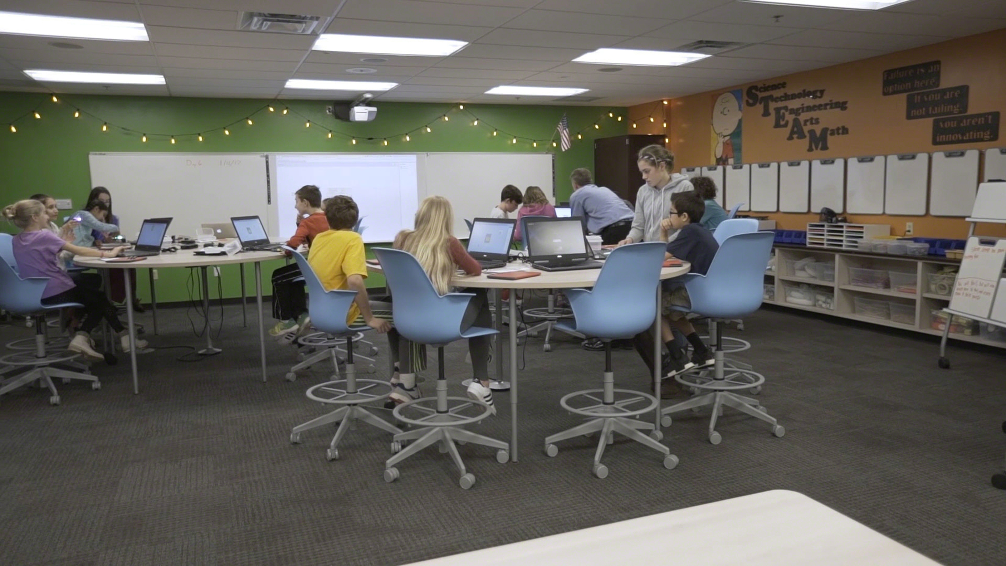 Classroom Furniture Grants ~ Award winning teacher motivates students with active learning