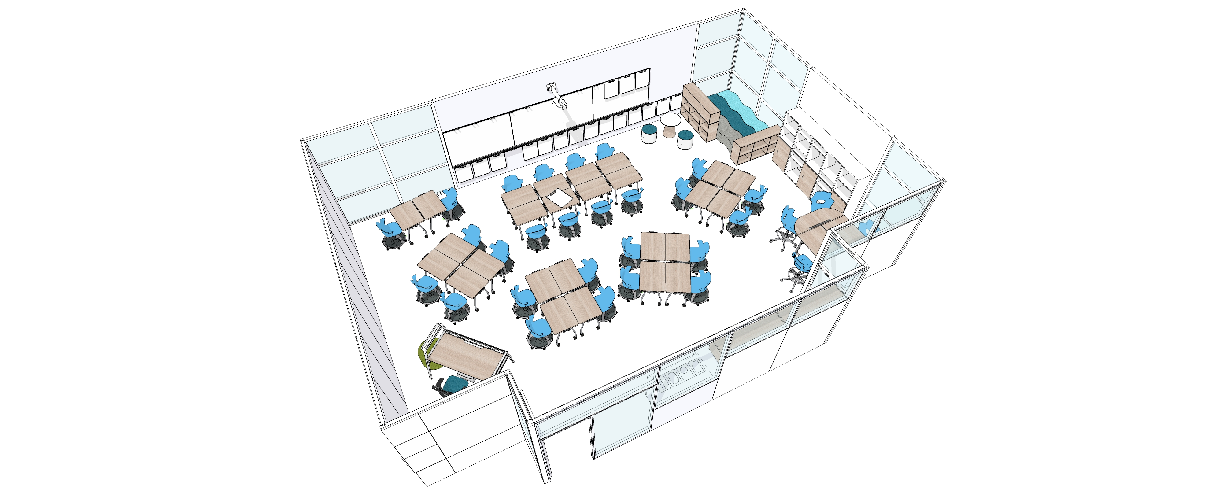 Classroom Furniture Dwg ~ Classroom floor plan educational psychology