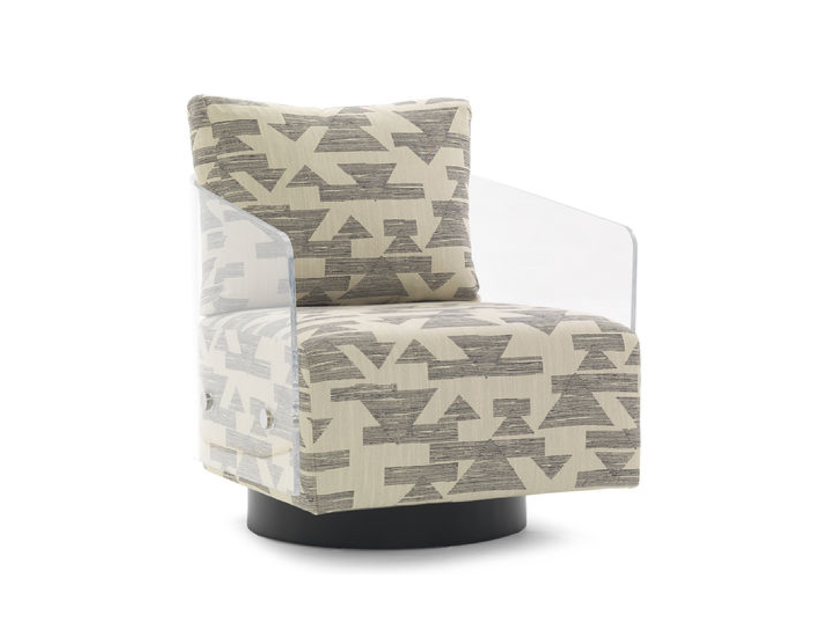 Image of: Lucy Swivel Return Modern Chair By Mitchell Gold Bob Williams Steelcase
