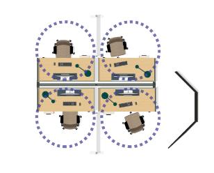 floorplan overhead view of work space