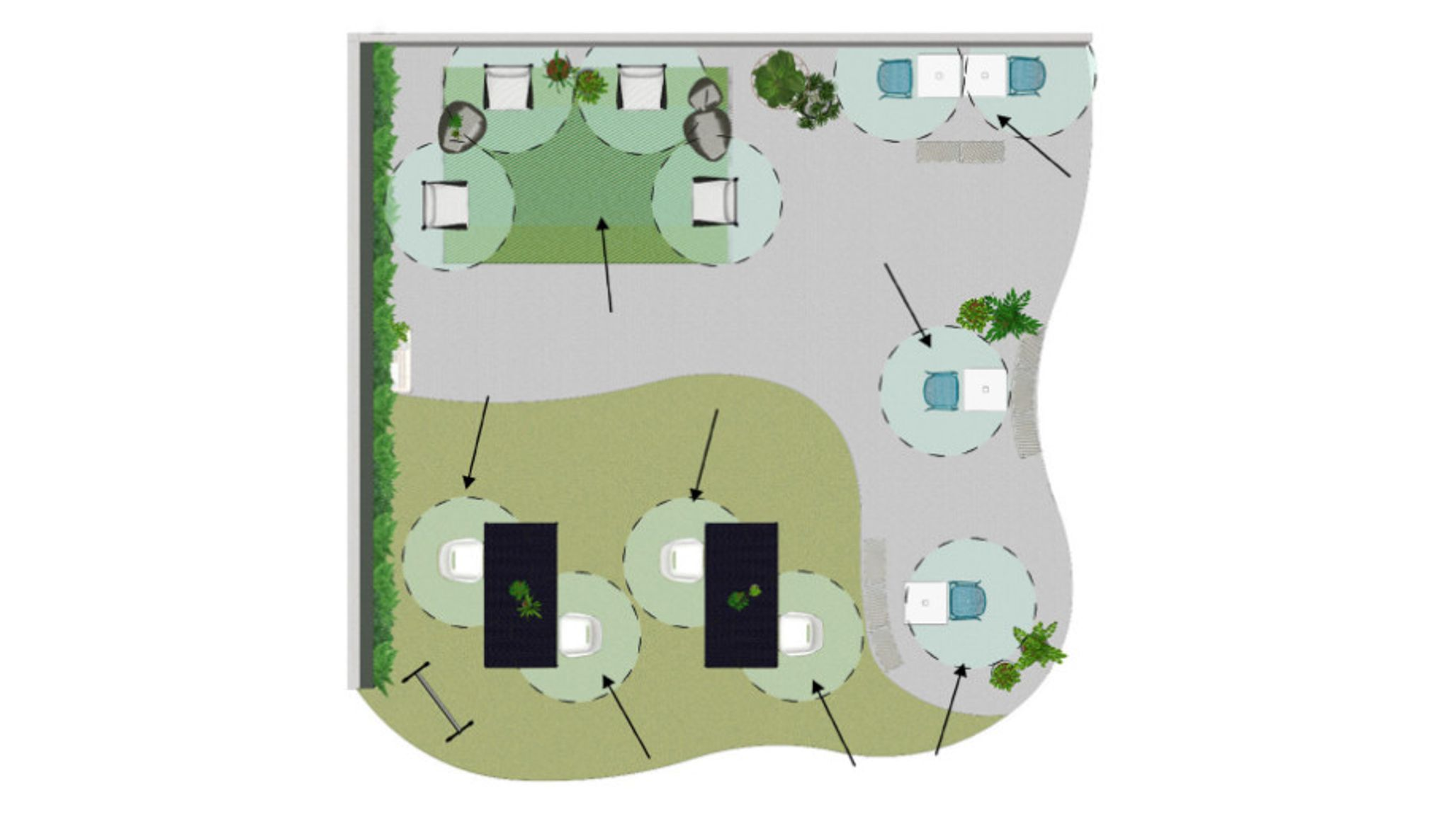 floorplan overhead view