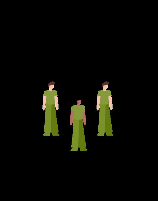 3 people representing